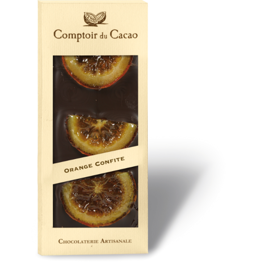 Orange candied gourmet Chocolate bar 90g