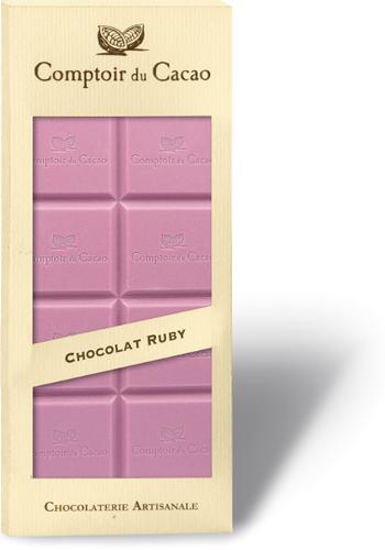 Barre gourmande ruby| Comptoir du Cacao | 90g