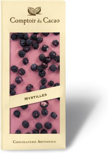 Barre gourmande ruby myrtille |Comptoir du Cacao | 90g