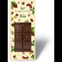 Collection barre BIO chocolat noir 72% plain  90g