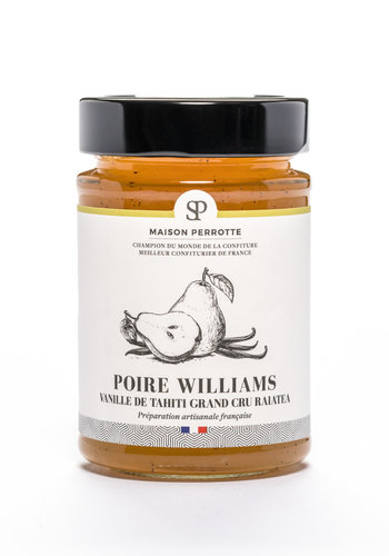 Confiture poire William vanille de Tahiti 220gr |Maison Perrotte