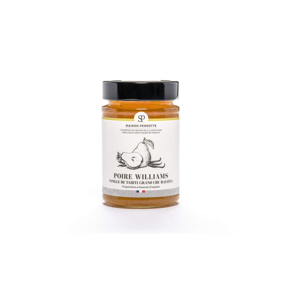 Confiture poire William vanille de Tahiti 220gr |Maison Perrotte