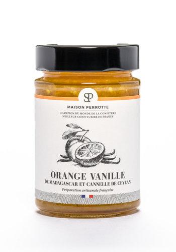 Maison Perrotte | Confiture Orange Vanille de Madagascar et cannelle de Ceylan | 220g