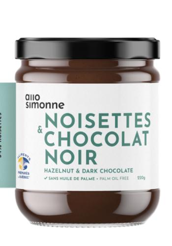 Noisettes, chocolat noir 220gr |  ALLO SIMONNE