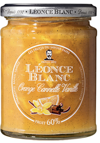 Orange, Cinnamon and Vanilla Jam 60% 330g (Léonce Blanc)