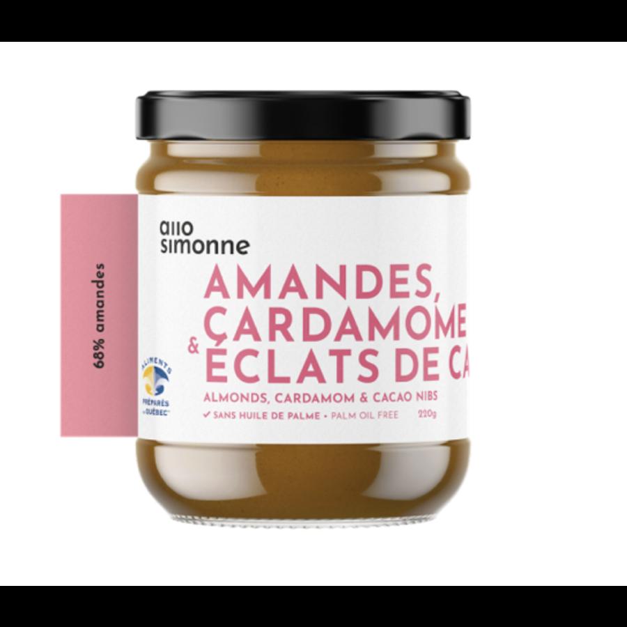 Amandes et cardamome, éclats de cacao 220g ALLO SIMONNE