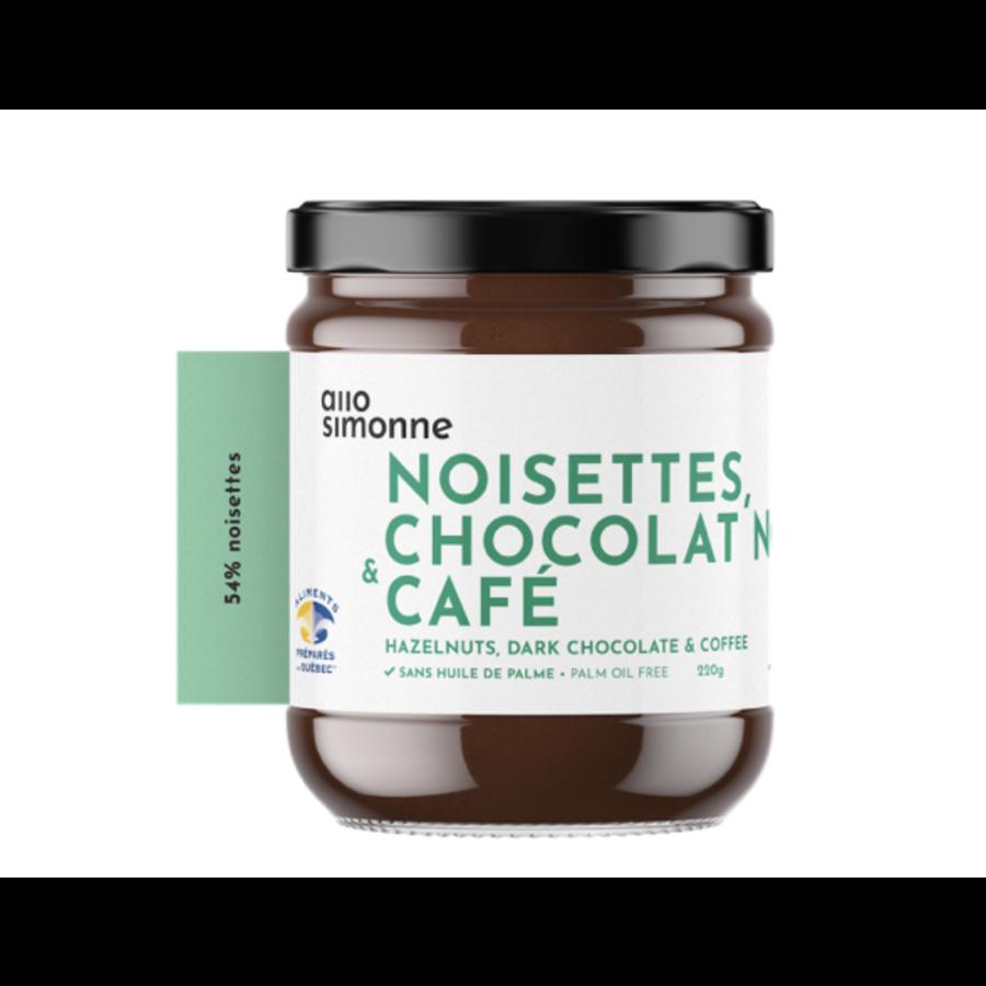 Noisettes chocolat noir & café 220gr ALLO SIMONNE