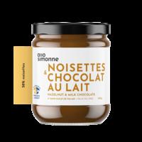 Noisettes, chocolat au lait 58% 220g ALLO SIMONNE
