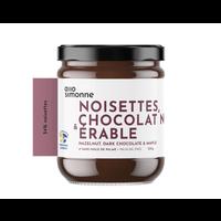Noisettes, chocolat noir, érable 220gr | ALLO SIMONNE