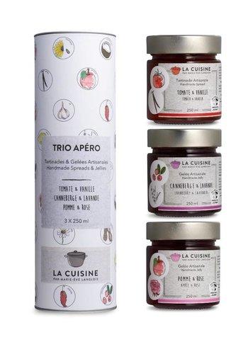 La Cuisine par Marie-Ève Langlois - Trio pour le fromage (apéro) - 3x 250ml