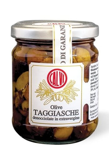 Taggiasca olives without stones in extra virgin olive oil 180g | Calvi