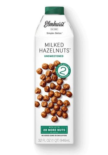 Milked hazelnuts unsweetened  946ml |Elmhurst 1925 |