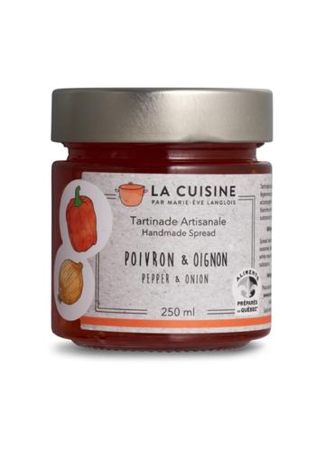 La Cuisine par Marie-Ève Langlois - Tartinade poivron & oignon - 250 ml