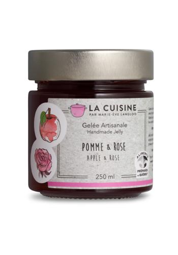 La Cuisine par Marie-Ève Langlois - Gelée de pomme et rose - 250 ml