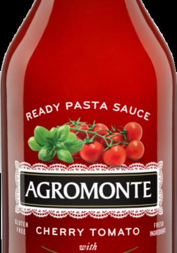 Sauce pour pâtes aux tomates cerises et basilic| bouteille verre | Agromonte 320ml