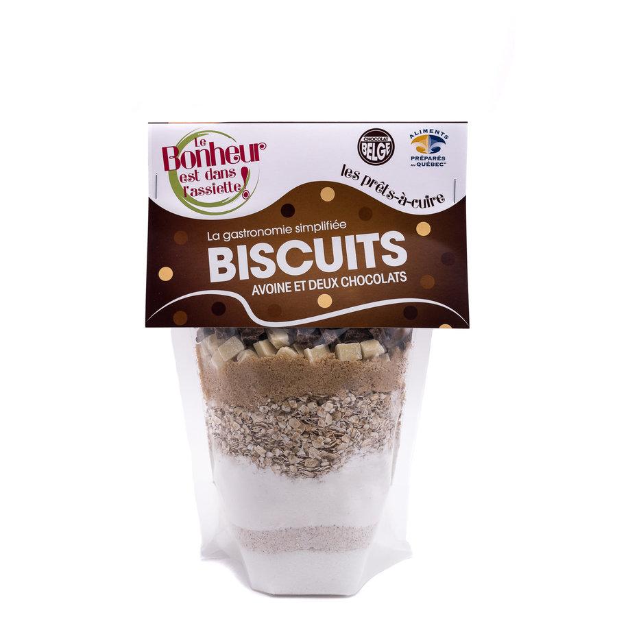 Le Bonheur est dans l'assiette - Biscuits avoine et deux chocolats