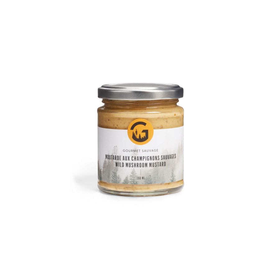 Moutarde Champignons sauvages 190 ml |Gourmet Sauvage