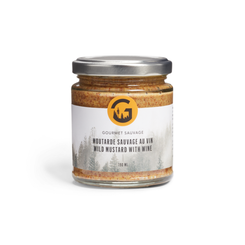 Moutarde Sauvage au vin190 ml  Gourmet Sauvage