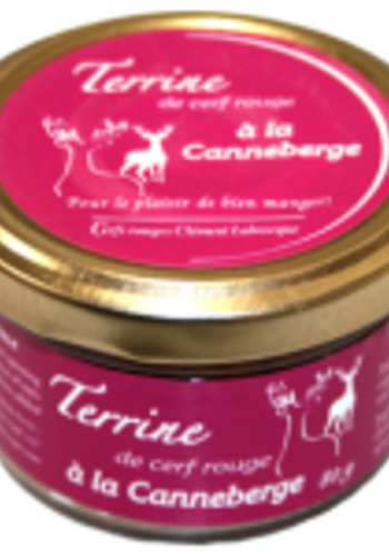 Terrine cerf rouge canneberges 80g | Cerfs Rouges Labrecque