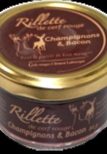 Rillette champignon & bacon 80g | Cerfs Rouges Labrecque
