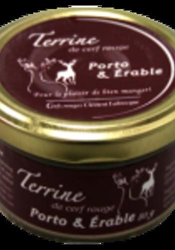 Terrine Porto et erable 80 g | Cerfs Rouges Labrecque
