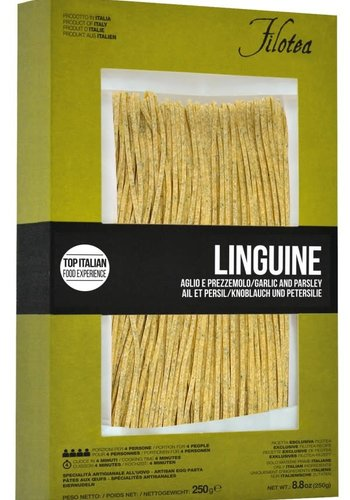 Filotea linguine Chitarrone garlic & parsley 250g