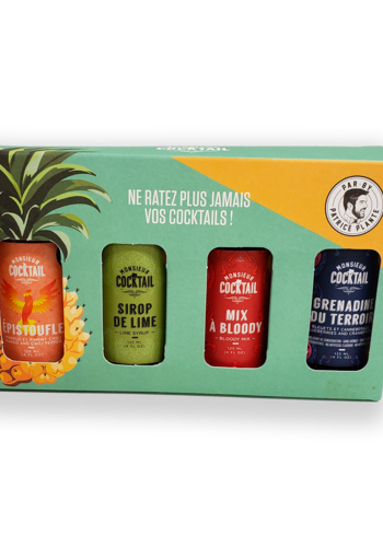 Monsieur Cocktail - Coffret Aventurier - 4 x 125 ml