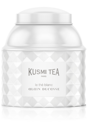 Kusmi Tea - Collection Alain Ducasse - Thé blanc à la rose & framboise -120g