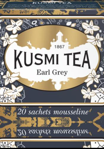 Thé Earl Grey Bio | Kusmi Tea | Étui 20 sachets mousseline 40g