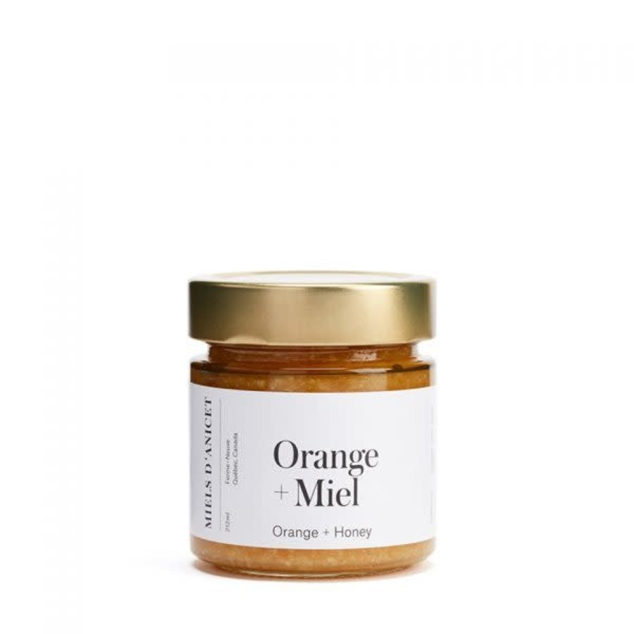 Miels d'Anicet - Orange & Honey Spread - 212 ml
