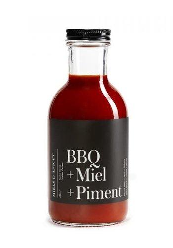 Miels d'Anicet - Sauce BBQ + Miel + Piment - 400ml