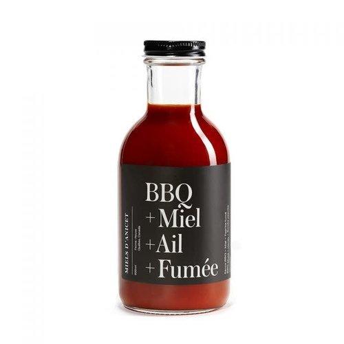 Miels d'Anicet - Sauce BBQ + Miel  + Ail + Fumée - 400ml