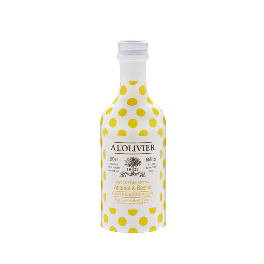 À L'Olivier - Vinaigrette à huile d'olive, Ananas & Basilic - 250 ml
