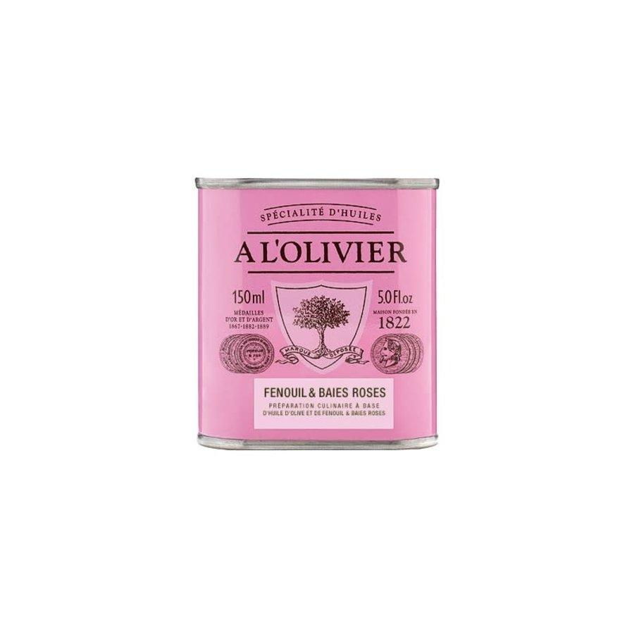 À L'Olivier - Huile d'olive à la fenouil & baies roses - 150ml