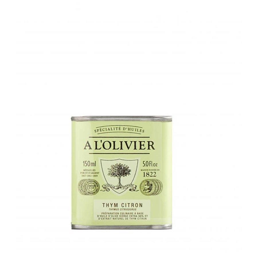 À L'Olivier - Huile d'olive au thym citronné - 150 ml