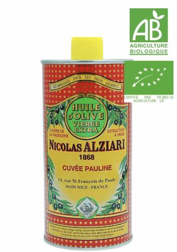 Nicolas Alziari - Huile d'olive fruitée intense - Cuvée Pauline (rouge) - 500ml