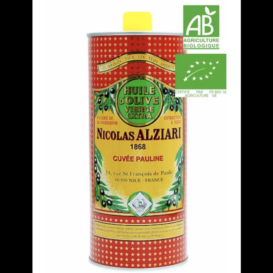 Nicolas Alziari - Huile fruitée intense - Cuvée Pauline (rouge) - 1L