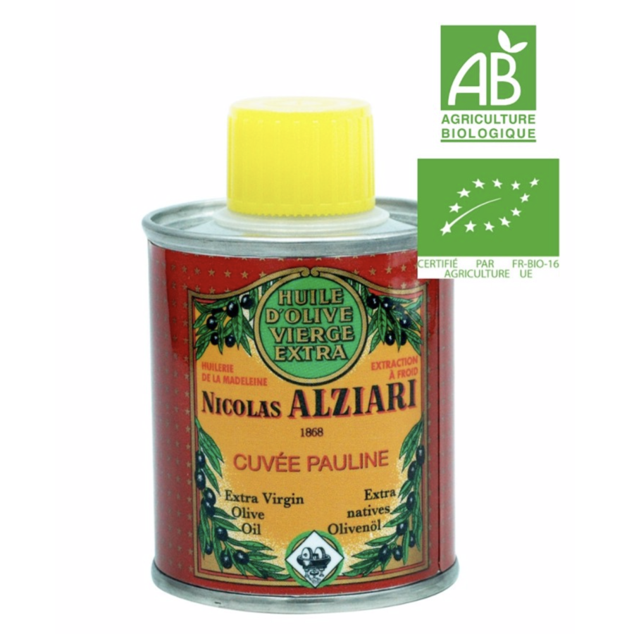 Nicolas Alziari - Huile d'olive fruitée intense - Cuvée Pauline  (rouge) - 100ml