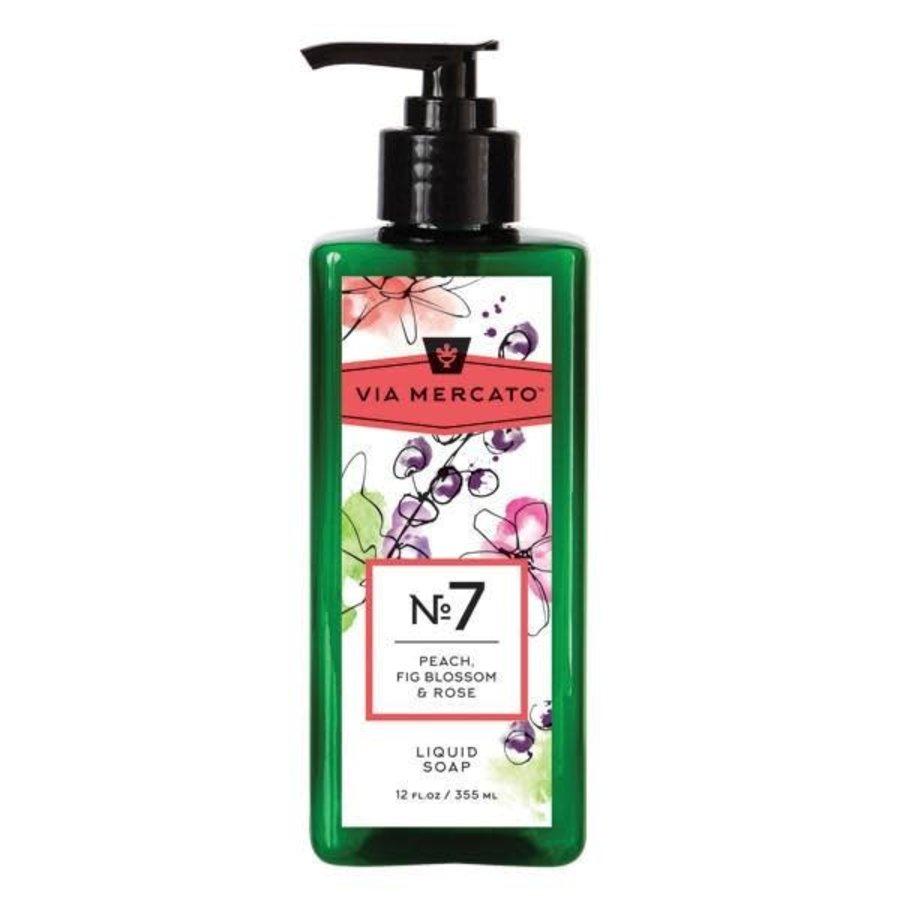 Via Mercato - Savon liquide pour les mains  (7) - Pêche, fleur de figuier et rose - 355 ml