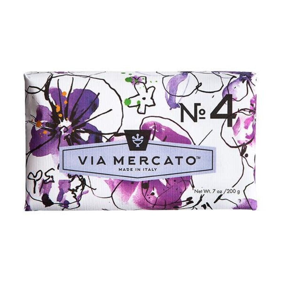 Via Mercato - Savon en barre No.4 - Violets, Magnolia & Amber - 200g