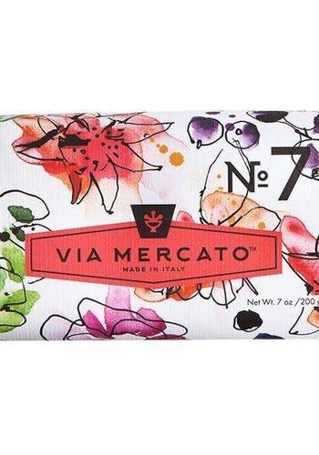 Via Mercato - Savon en barre (7) - Pêche, Fleur de Figue et Rose - 200g