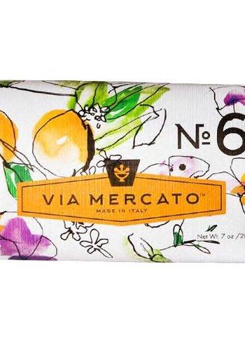 Via Mercato - Savon en barre (6) - Figue, fleur d'oranger et bois de cèdre - 200g