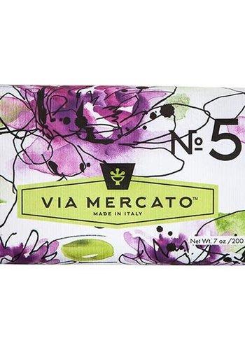 Via Mercato - Savon en barre (5) - Nénuphar et bois de santal - 200g