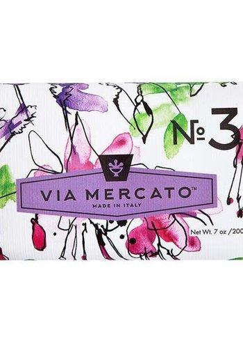 Via Mercato - Savon en barre (3) - Pepe Rosa, lavande et gousse de vanille - 200g