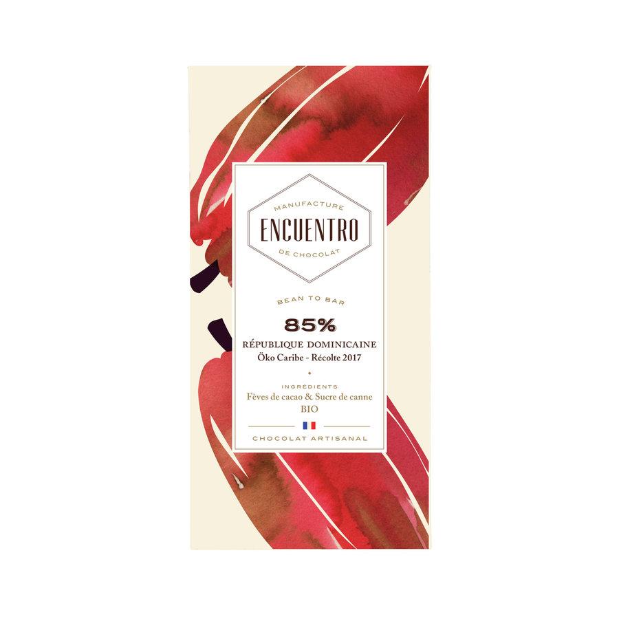 Barre biologique de chocolat noir 85% République Dominicaine 75g | ENCUENTRO
