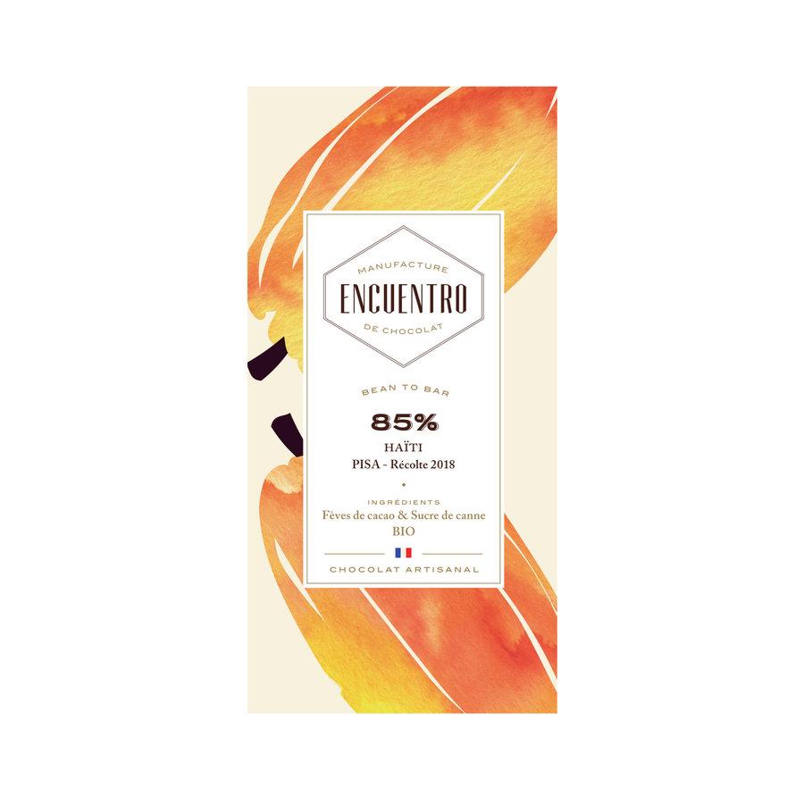 Barre biologique de chocolat noir 85% Haiti 75g | ENCUENTRO
