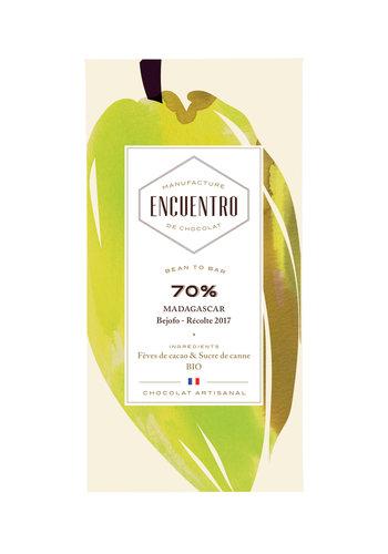Barre biologique de chocolat noir 70% Madagascar 75g| ENCUENTRO