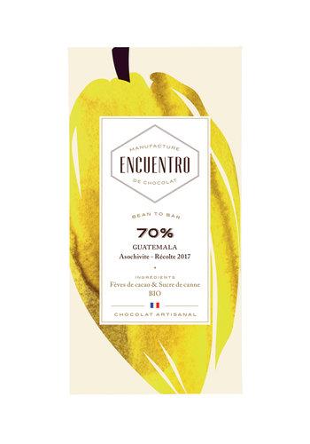 Barre biologique de chocolat noir 70% Guatemala 75g | ENCUENTRO