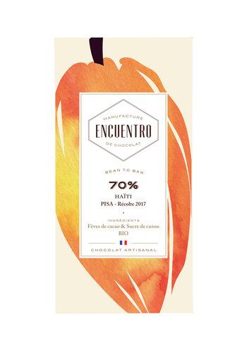 Barre biologique de chocolat noir 70%  Haiti - ENCUENTRO - 75g