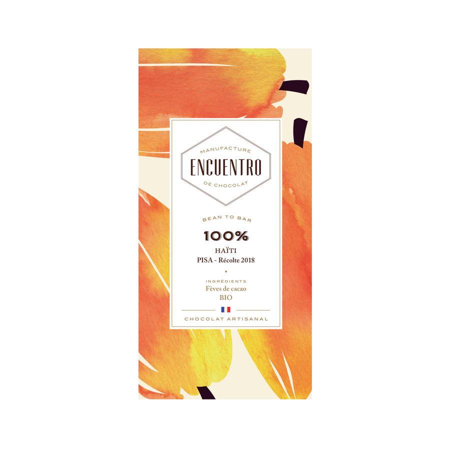 Barre biologique de chocolat noir 100% Haiti - ENCUENTRO - 75g